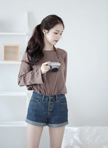 [Pre-Order 5-12 Days] Little Often 2017 Sassy Jeans Shorts