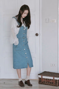 [Pre-Order 5-12 Days] Little Often 2017 Denim Overall Dress