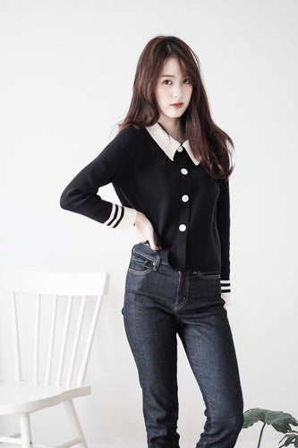 [Pre-Order 5-12 Days] Little Often 2018 Single breasted Knit Top