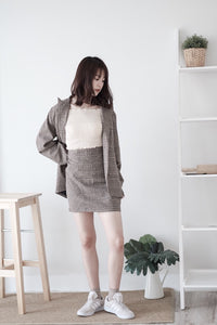 [Pre-Order 5-12 Days] Little Often 2018  Vintage suit up Set Blazer+Skirt