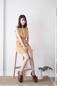 [Pre-Order 5-12 Days] Little Often 2018 Vintage Single-breasted Dress