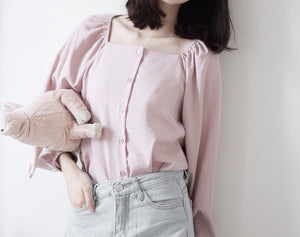 [Pre-Order 5-12 Days] Little Often 2018  2in1 pinstriped Blouse