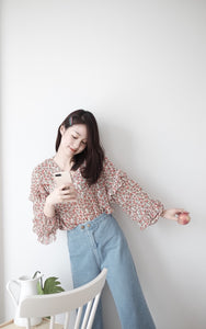 [Pre-Order 5-12 Days] Little Often 2018 Chiffon Floral  Blouse