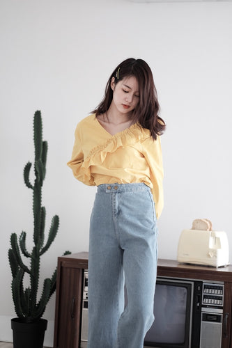[Pre-Order 5-12 Days] Little Often 2018 High-waist Casual Denim Jeans