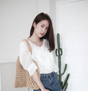 [Pre-Order 5-12 Days] Little Often 2018 Cascade ruffle  Blouse