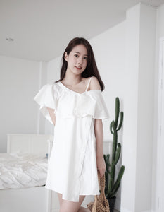 [Pre-Order 5-12 Days] Little Often 2018 Asymmetrical mini dress