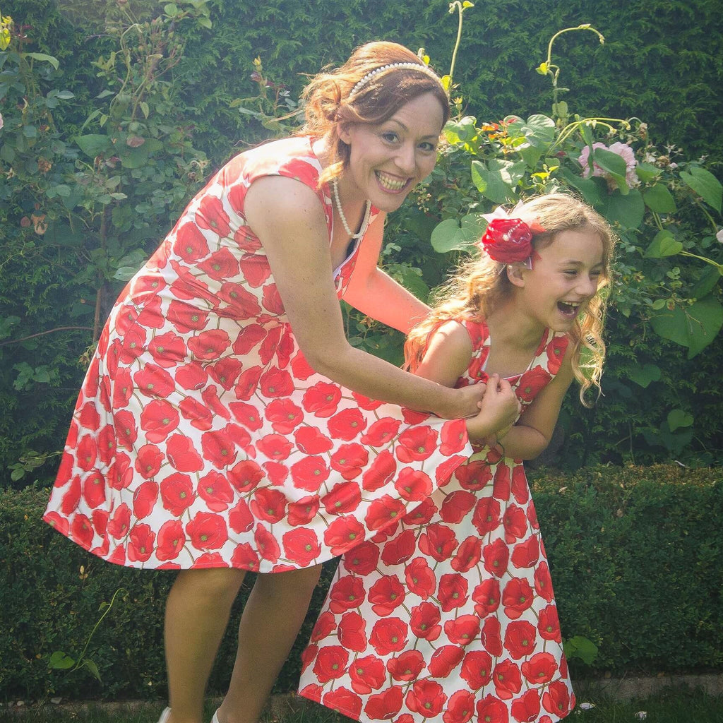 Moeder dochter jurk - Just Like Mommy'z mommy and me outfits - rode jurkjes