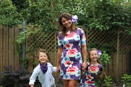 Mama & Me Matching Outfits - Moeder dochter jurken - Moeder zoon kleding - Just Like Mommy'z - Violet twinning dress