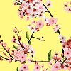 Blossoms on Bright Yellow Logo