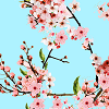 Blossoms on Soft Mint Logo