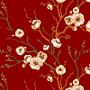 C. Blossoms on Dark Red Logo