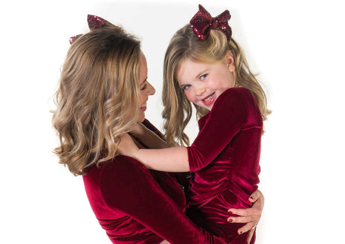 Mother Daughter Matching Holiday Collection - Christmas & New Year's Dresses | Just Like Mommy'z | Moeder Dochter Kerstjurken - Kerstkleding Mama & Mini me