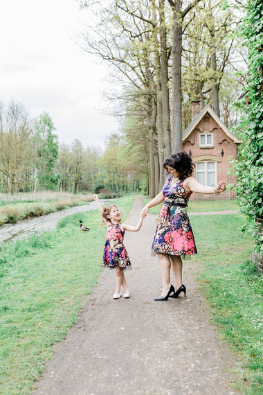 Moeder en dochter kleding mini-me jurk - matching dresses mum & me by Just Like Mommy'z