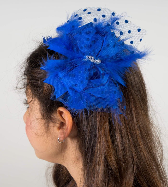 Fancy in Feathers & Tulle hair bow | Mama & Me