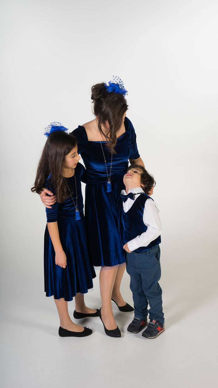 Moeder dochter zoon matching kleding en accessoires - twinning jurken - feestjurken - Mother daughter son matching dresses | Just Like Mommy'z | Christmas Holiday Collection - Kerst Collectie - mummy and mini me