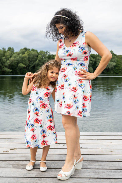 Moeder en dochter twinning jurk - chic mama & me matching dresses for summer by Just Like Mommy 'z
