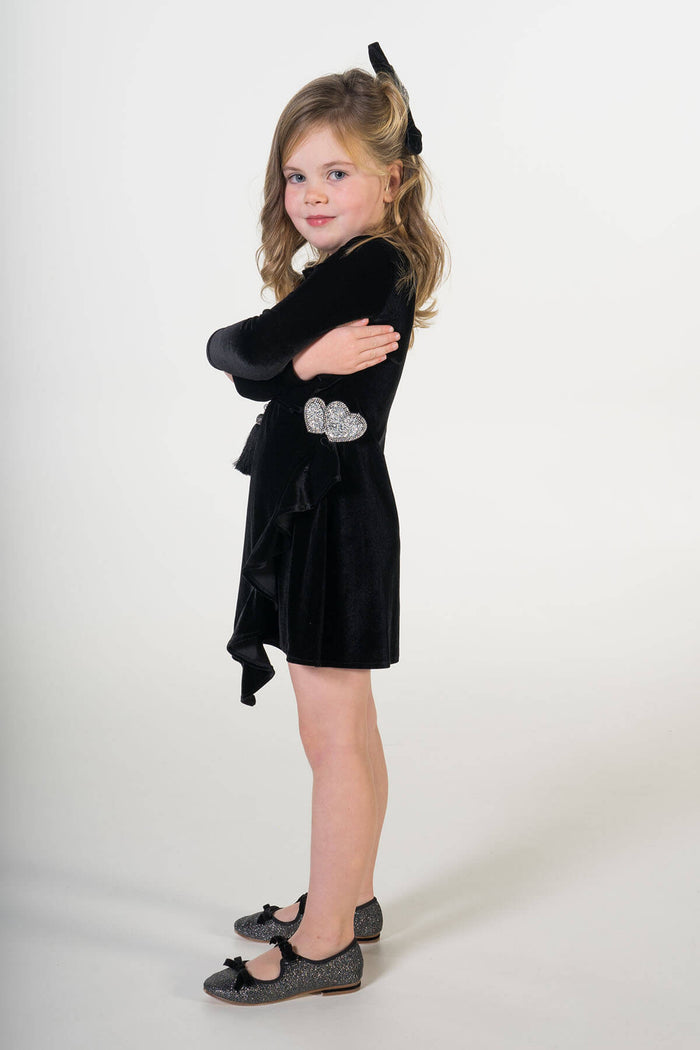 Valentina black velvet party dress ME - Moeder dochter matching kleding en accessoires - twinning jurken - feestjurken - Mother daughter matching dresses | Just Like Mommy'z | Christmas Holiday Collection - Kerst Collectie - mummy and mini me