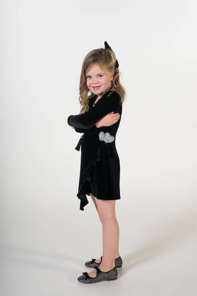 Valentina velvet party dress ME -Moeder dochter matching kleding en accessoires - twinning jurken - feestjurken - Mother daughter matching dresses | Just Like Mommy'z | Christmas Holiday Collection - Kerst Collectie - mummy and mini me