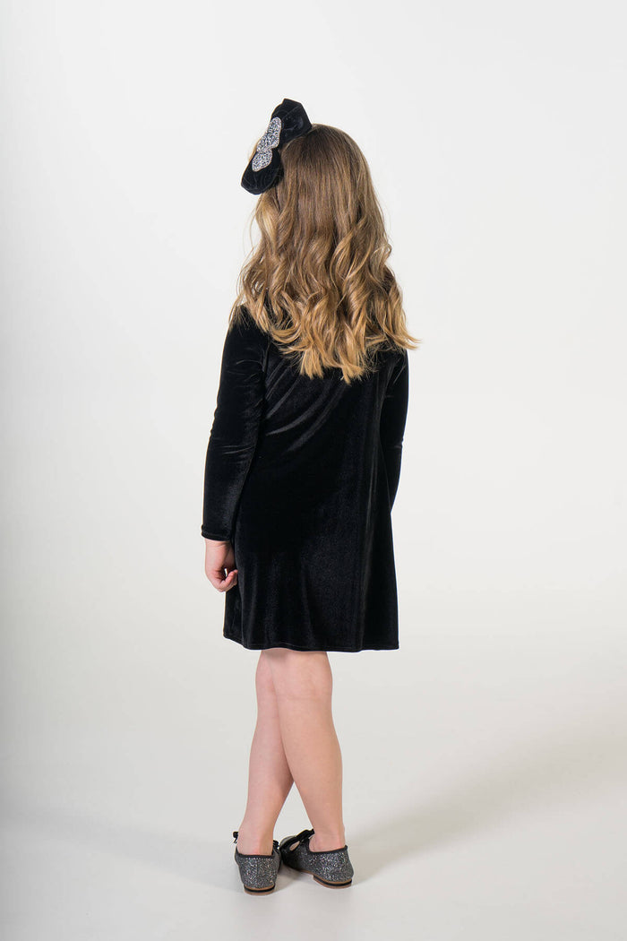Valentina black velvet party dress ME - twinning jurken by Just Like Mommy 'z