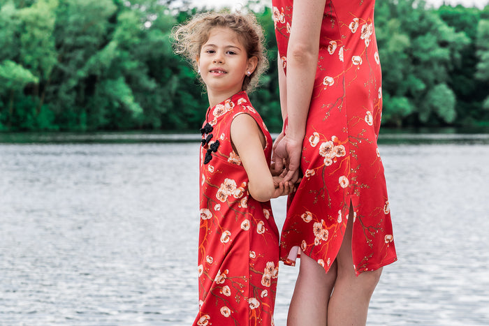 Twinning jurken moeder dochter kleding minime- matching dresses by Just Like Mommy 'z