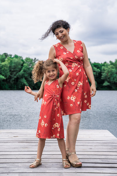 Twinning jurken moeder dochter kleding- matching mum & me dresses by Just Like Mommy 'z