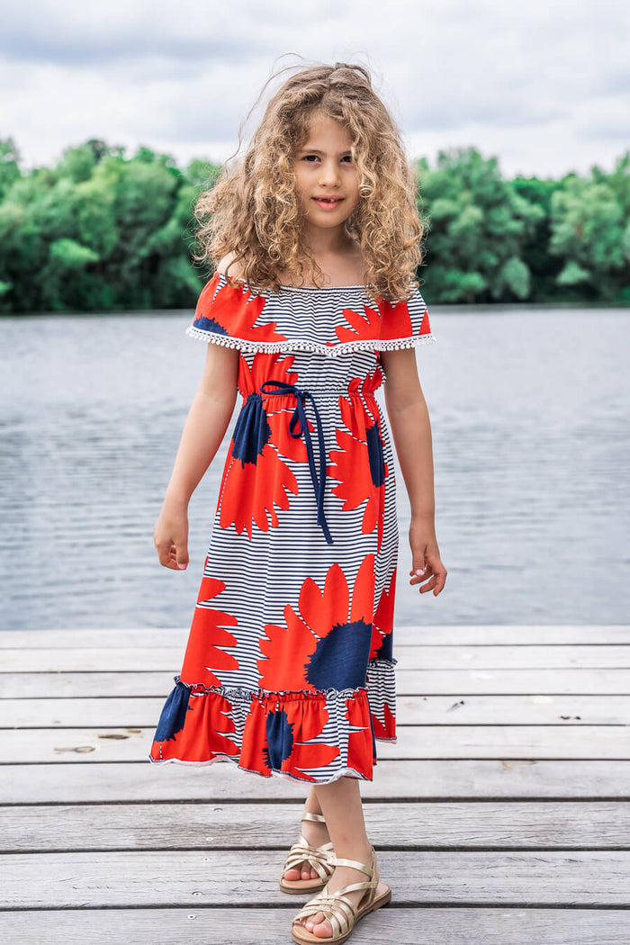 Moeder dochter zoon matching kleding twinning jurken zomerjurk - mama & me summer dress by Just Like Mommy'z