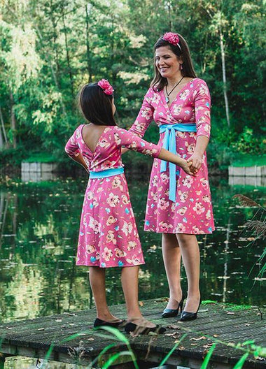 Twinning jurken moeder dochter kleding- matching mother daughter dresses mum & me by Just Like Mommy 'z