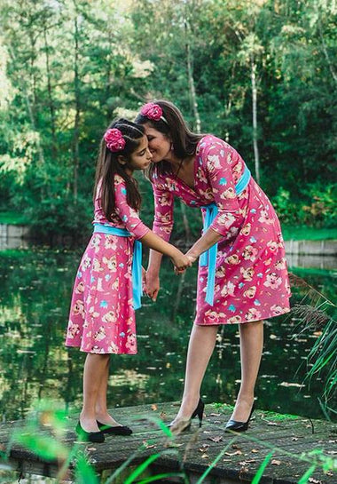 Twinning jurken moeder dochter kleding - matching mother daughter dresses mummy &me  by Just Like Mommy 'z