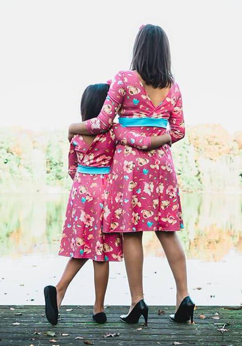 mother and daughter matching dress _ mini-me mum & me outfits by Just Like Mommy'z - roze