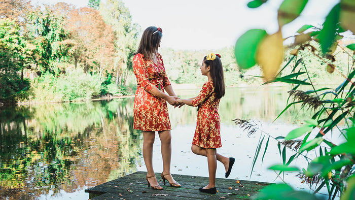 Twinning jurken moeder dochter kleding- matching mum daughter dresses by Just Like Mommy 'z