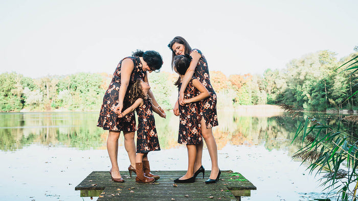 Twinning jurken moeder dochter kleding- matching mother daughter dresses by Just Like Mommy 'z