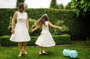 Moeder dochter jurk - Twinning set - Just Like Mommy'z matching dresses - Like a day dream twinning dress - Mine me outfits