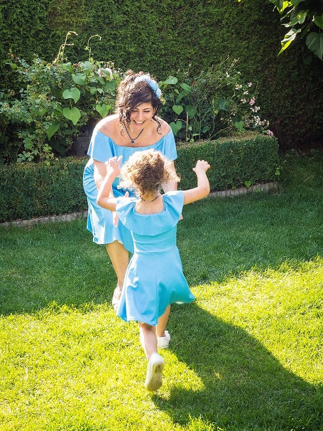 Moeder dochter jurk - Twinning set - Just Like Mommy'z matching dresses - turquoise twinning dress - Mine me outfits