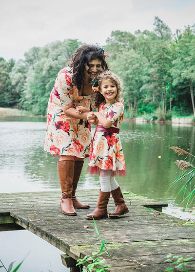 Moeder dochter jurken - mommy and me dresses by Just Like Mommy 'z - Rosita