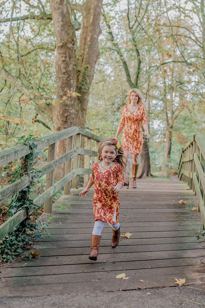 Moeder en dochter twinning jurk - mama & me  mum daughter matching dresses by Just Like Mommy 'z