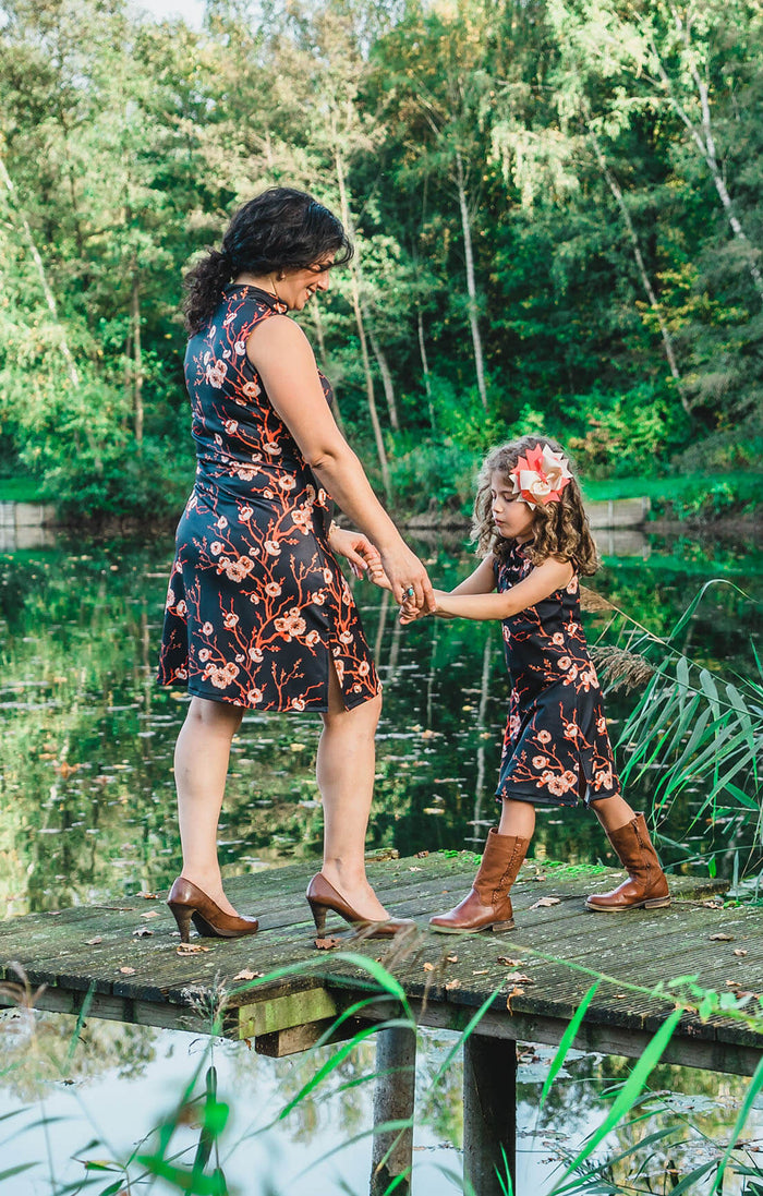 Moeder en dochter twinning jurk - mummy & me matching dresses by Just Like Mommy 'z