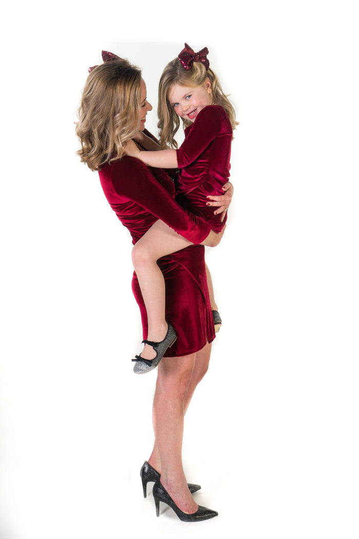 Moeder dochter matching kleding twinning jurken - feestjurken - Mother daughter matching dresses | Just Like Mommy'z | Christmas Holiday Collection - Kerst Collectie