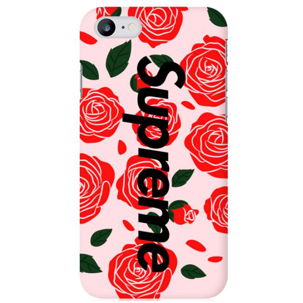 Supreme Matte Flower Custom Hard Phone Case For Iphone 567 Plus 8