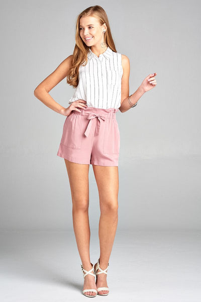 Bow Tie Woven Shorts