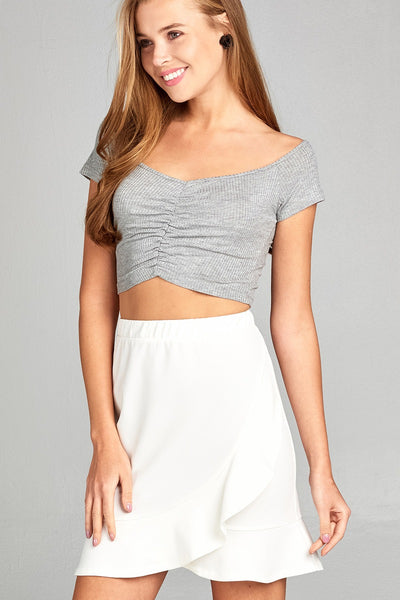 Ocean Breeze Front Shirring Top