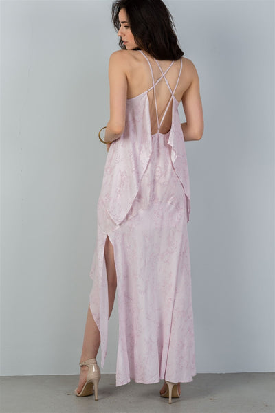 Mauve Back Strap Maxi Dress