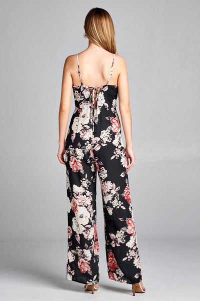 Bold Closure Floral Jumpsuit