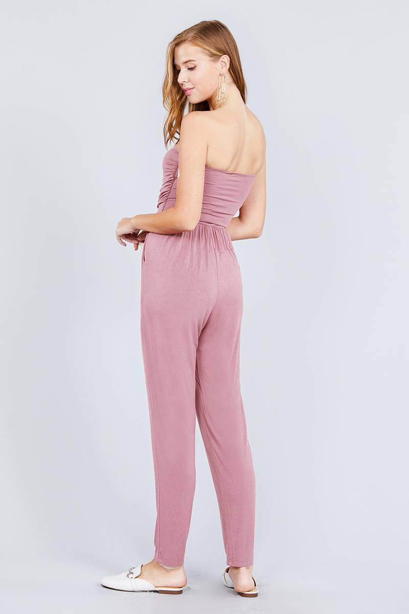 Strapless Tube Top Jumpsuit