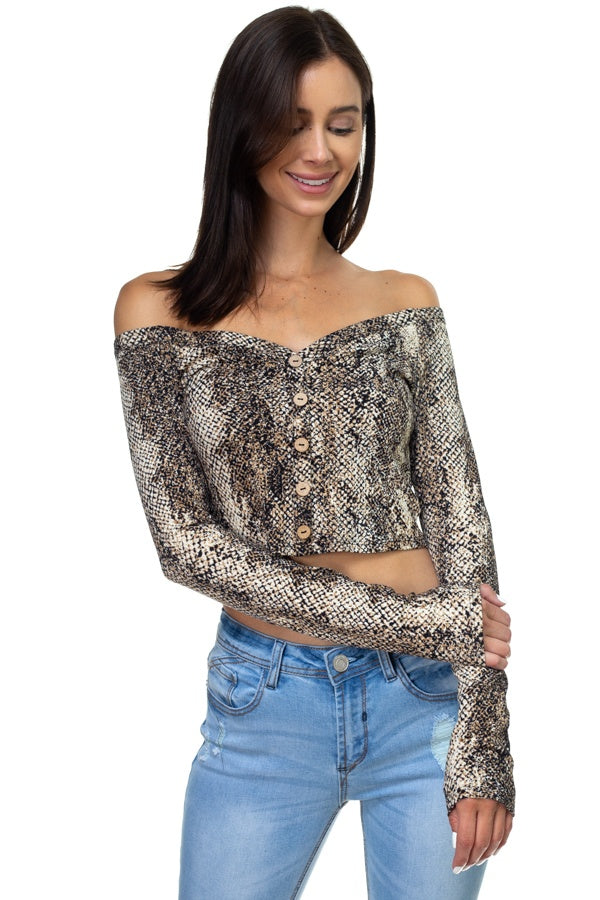 Topsnake Off Shoulder Top