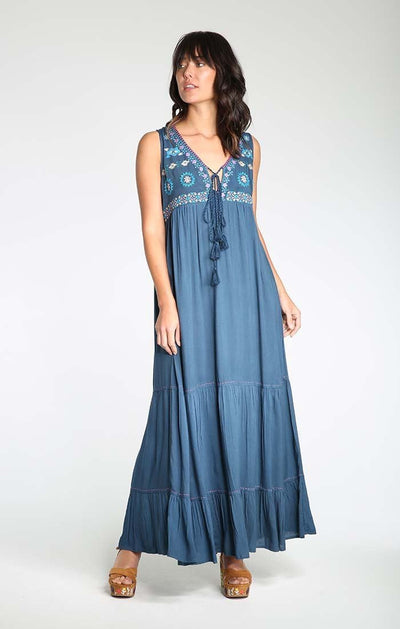Singing My Blues Maxi Dress