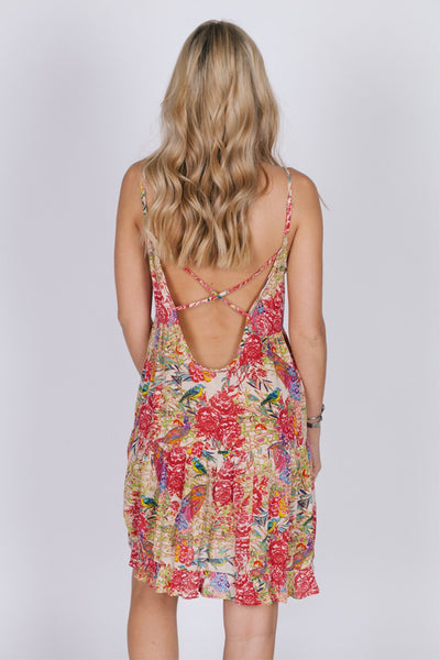 Birds Of Paradise Strappy Dress