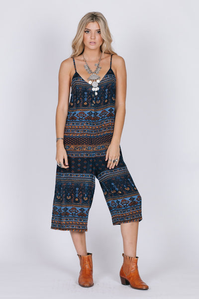 Midnight Blues Culottes Jumpsuits