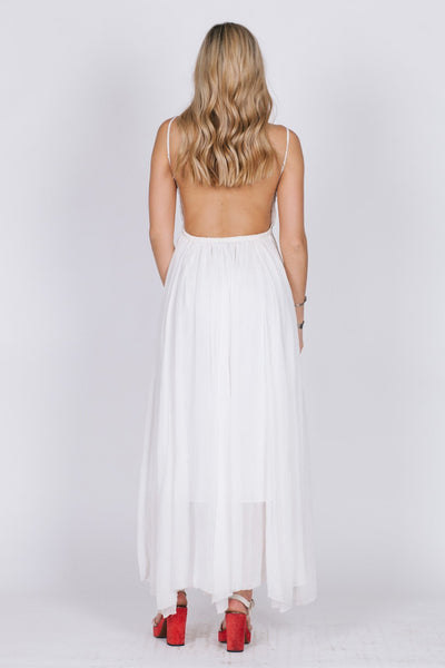 Golden Meadow Backless Maxi
