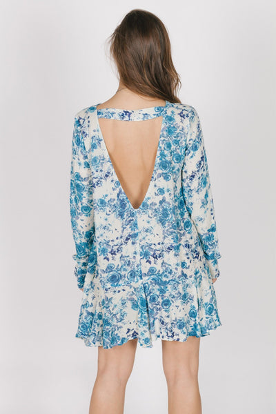 Blue Rose Dress