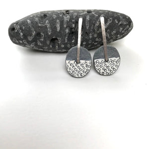 Slate Fossil Paddle Earrings